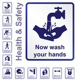 Знаки здоровья и безопасности Стоковое Изображение