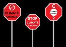 Знаки изменения климата стоковое изображение rf