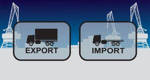 Знаки импорта экспорта, символы Стоковое Фото