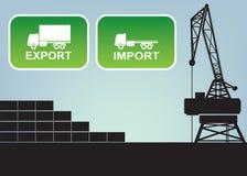 Знаки импорта экспорта, символы Стоковые Изображения