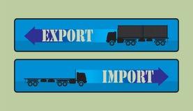 Знаки импорта экспорта, символы Стоковые Фото