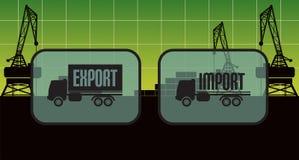 Знаки импорта экспорта, символы Стоковые Изображения RF