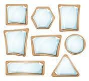 Знаки листов бумаги на комплекте картона Стоковое фото RF