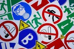 Знаки и символы безопасности стоковое изображение rf