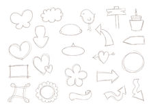 Знаки и формы Doodle Стоковое фото RF
