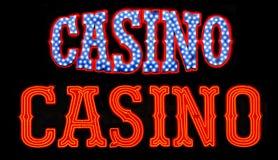 знаки казино неоновые стоковое изображение rf
