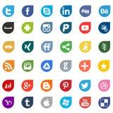 Знаки логотипа сети средств массовой информации Apps социальные стоковые фотографии rf