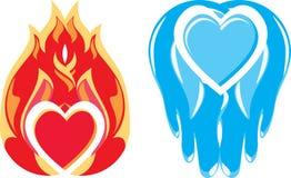 знаки любови холодности Стоковое Изображение