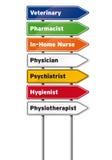 Знаки медицинских работников стоковое фото rf