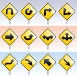 знаки направления Стоковое Изображение