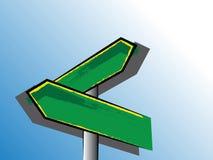 Знаки направления Grunge рисуя - иллюстрация вектора Стоковые Изображения