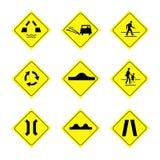 Знаки на белой предпосылке Стоковые Изображения RF