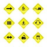 Знаки обозначают на белой предпосылке Стоковое Изображение