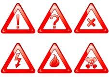 знаки опасности установленные Стоковые Изображения