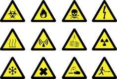 знаки опасности Стоковое Изображение RF