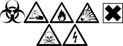 знаки опасности Стоковое Фото