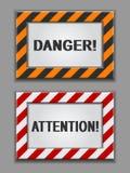 знаки опасности стоковое фото rf