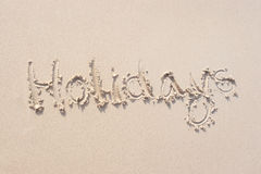 знаки песка Стоковые Фотографии RF