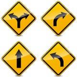 Знаки поворота вектора Стоковые Изображения RF