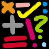 знаки покрашенные математикой Стоковые Изображения RF