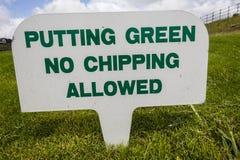 Знаки поля для гольфа   Стоковые Изображения