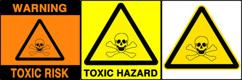 знаки предосторежения установленные v предупреждая Стоковая Фотография