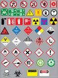 Знаки предупреждения и безопасности бесплатная иллюстрация