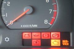 Знаки приборной панели автомобиля Стоковая Фотография