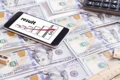знаки профита доллара принципиальной схемы чалькулятора Стоковые Фотографии RF
