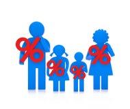 Знаки процентов семьи Стоковое Изображение