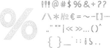 Знаки пунктуации, поют Дизайн треугольника иллюстрация вектора