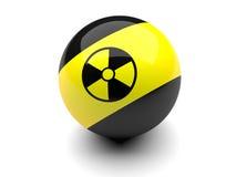 знаки радиации биллиарда шарика Стоковое фото RF