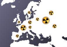 знаки радиации europas Стоковые Изображения RF