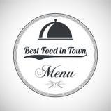 Знаки ресторана, символы, элементы логотипа и значки Стоковые Изображения