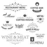 Знаки ресторана Стоковая Фотография RF