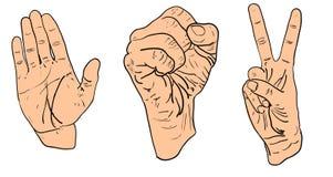 Знаки руки Стоковые Изображения