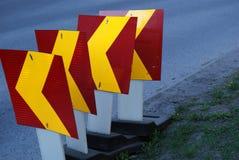 Знаки строительства дорог Стоковые Изображения RF