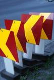 Знаки строительства дорог Стоковое фото RF
