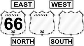 знаки трассы дороги Стоковое Изображение RF