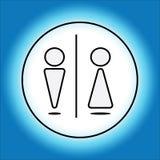 Знаки уборного для людей и женщин стоковые фото