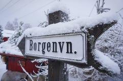Знаки уличного движения в Норвегии стоковые изображения rf