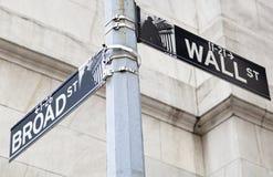 Знаки улицы Манхаттана Стоковые Изображения