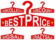 Знаки шкафа пальто с сообщением продажи Стоковое Изображение