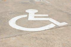 Знаки для люди с ограниченными возможностями Стоковые Изображения RF