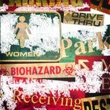 знаки grunge конструкции предпосылки стоковое фото rf
