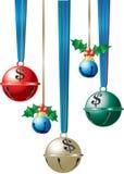 знаки jingle доллара колоколов Стоковая Фотография RF