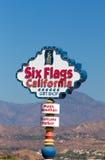 6 знаков входа Калифорнии горы флагов волшебных Стоковые Изображения