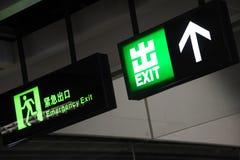 Знак аварийного выхода Стоковая Фотография