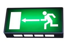Знак аварийного выхода Стоковое Фото