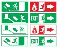 Знак аварийного выхода Стоковые Фото
